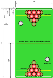 This diagram illustrates a standard set up for a game of beer pong, with either 6 or 10 cups being used.