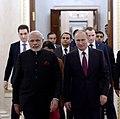 Before beginning of an informal meeting between Vladimir Putin and Narendra Modi at the Kremlin in 2015.jpg