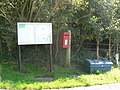 Belchalwell, postbox № DT11 165 and noticeboard - geograph.org.uk - 973113.jpg
