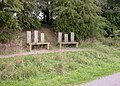 Benches for People of Different Heights - geograph.org.uk - 224543.jpg