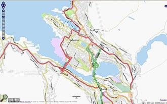 Puddefjorden - Image: Bergen OSM