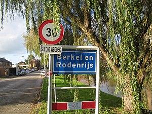 Berkel en Rodenrijs - Town sign