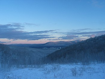 The Berkshire Hills, part of the Appalachian M...