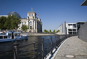 Spree - The Spree in Berlin, Reichstag building to the left
