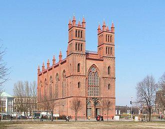 Friedrichswerder Church - View from southwest to the façade towards Werderscher Markt