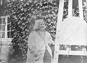 Photography in Denmark - A.C.T. Neubourg: Bertel Thorvaldsen (1840)