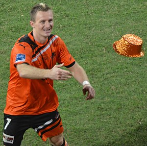 Besart Berisha - Berisha celebrating Brisbane's 2012 A-League Grand Final win in 2012.