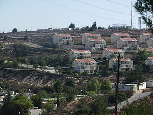 Beit El - Ulpana neighborhood, with Jabel Artis in the background