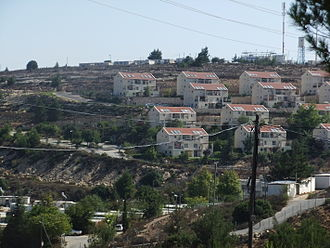 Beit El - Ulpana neighborhood, with Jabel Artis in the background