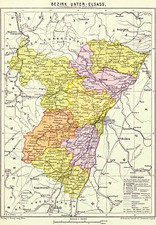 name for the central district (Bezirk) of the imperial territory of Elsaß-Lothringen (Alsace-Lorraine) in the German Empire from 1871 to 1918