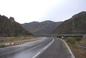 Iron Gates (Algeria) - View of the Iron Gates.