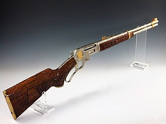 Marlin Model 336 - This 30-30 Cal. Marlin rifle is engraved with scenes from American history commemorating America's Bicentennial.