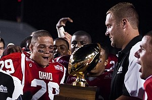 Big 33 Football Classic - Ben Roethlisberger presents the Big 33 trophy to Ohio, the winning team