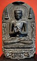 Bihar, buddha che recita il primo sernone (dharmachakrapravartanamudra), periodo pala, 980-1020 ca.jpg