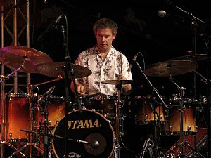 2004 in jazz - Bill Bruford at Moers Festival 2004.