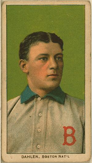 Bill Dahlen - Baseball card of Bill Dahlen, T206 set.