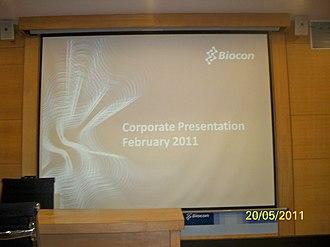 Biocon - Biocon Corporate Presentation