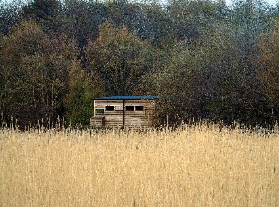 Bird Hide at Newport Wetlands RSPB Reserve