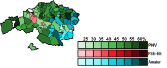 Biscay (Congress of Deputies constituency) - Image: Biscay Municipal Map Congress 2011