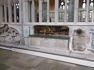 James Berkeley - Chest tomb of Bishop James Berkeley (d.1327), north wall of the south ambulatory, Exeter Cathedral