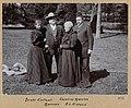 Bjørnstjerne Bjørnson og Karoline Bjørnson sammen med Beate og Alexander Kielland, 1896 (4420135868).jpg