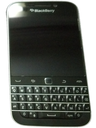 BlackBerry Classic - From left to right: BlackBerry 8820, BlackBerry Bold 9900, and BlackBerry Classic
