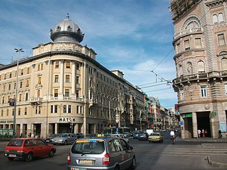 Eclecticism - Eclecticism in architecture at the intersection of Rákóczi Avenue and the Grand Boulevard in Budapest