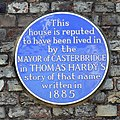 Blue plaque, Barclays Bank, South Street, Dorchester - geograph.org.uk - 2658617.jpg