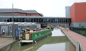 Oxford Canal - The Oxford Canal passes mainly through the Oxfordshire, Northamptonshire and Warwickshire countryside, and is often considered to be one of the most scenic canals in Britain. The construction of the Oxford Canal in 1790 aided Banbury's growth. The shot is taken at Tooley's Boatyard, Banbury.