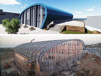 Moti Bodek - Sports Center at Tel Aviv, designed by Moti Bodek and Dana Oberson (under construction)