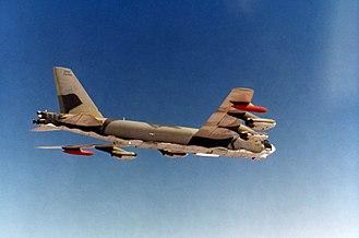 1968 Thule Air Base B-52 crash - A B-52G, similar to the one that crashed at Thule Air Base