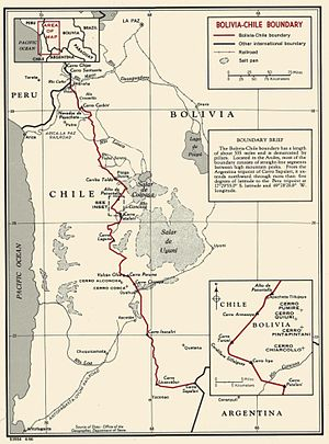 Treaty of Peace and Friendship (1904) - Chile-Bolivia Border on the map.