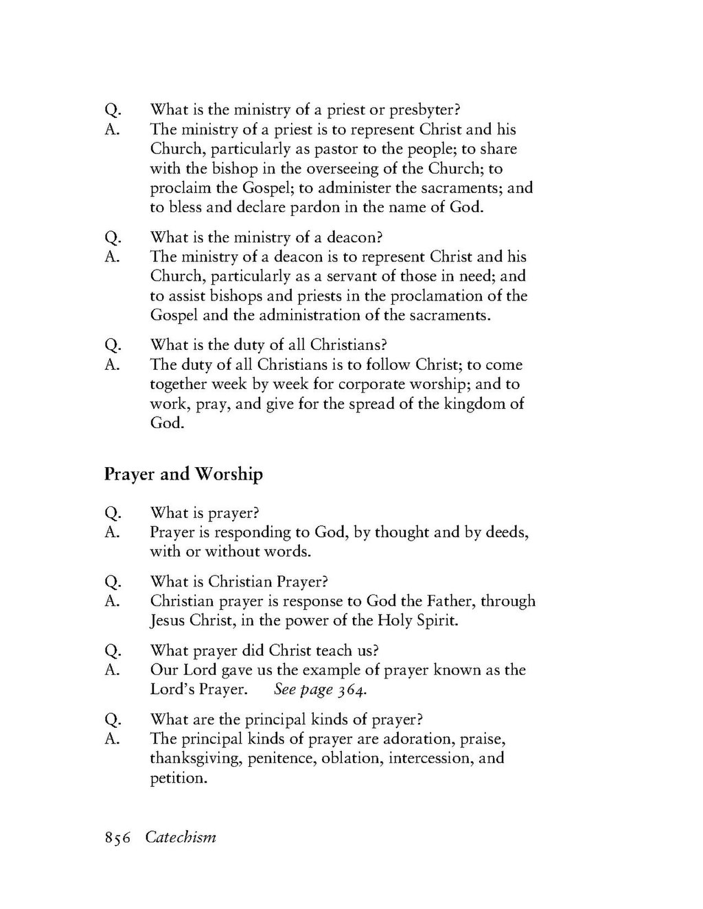 Refresher on prayers. What are the 5 types of prayers 1. Prayer of.