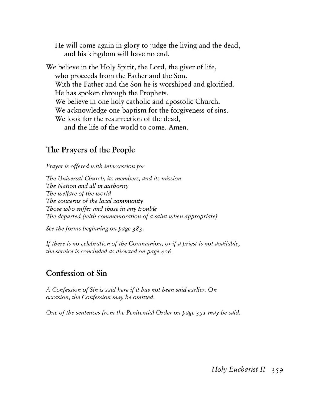 Book Of Common Prayers