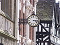 Bore Street, Lichfield - Guildhall - Donegal House - Tudor Cafe - clock (3676622648).jpg