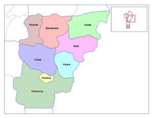 Communes of Benin - Communes of Borgou.
