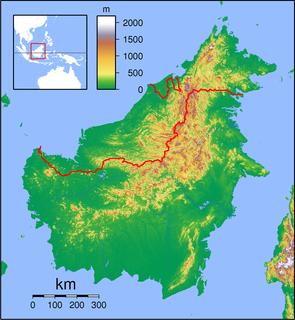 Limbang Town in Sarawak, Malaysia