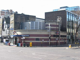 Borough High Street - Borough tube station.