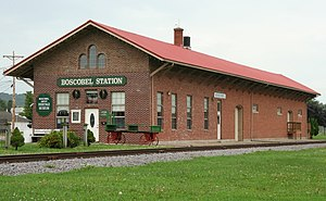Boscobel, Wisconsin - The old Boscobel Train Station in the center of the town