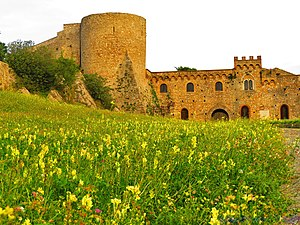 Jordan Lupin - The Norman castle at Bovino, the centre of Jordan's county in mainland southern Italy.