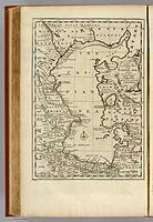 Bowen, Emanuel; Orbeliani, Sulxan-Saba. A new and accurate map of the Caspian Sea. 1747.jpg