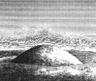 Bowl barrow - Engraving of a bowl barrow by Richard Colt Hoare