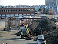 Box District station construction from Broadway, December 2015.JPG