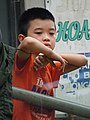 Boy at Guardrails - Old Quarter - Hanoi - Vietnam (48084830661).jpg