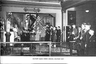 Marymount Military Academy - Boys at Mass before Military Day.  Taken at historic Marymount Academy in Tacoma, WA.