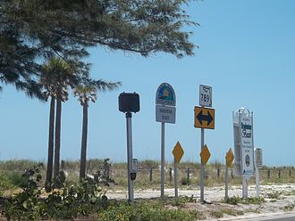 Florida Scenic Highways - Image: Bradenton Beach FL SR 789 Scenic Hwy sign 01