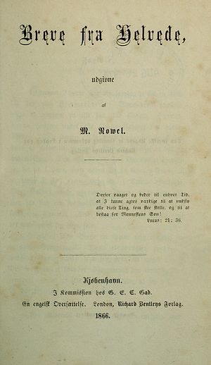 Letters from Hell - 1866 title page