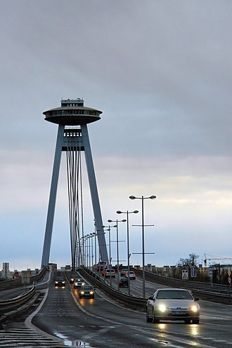 Most SNP - Image: Bridge Nový most Bratislava