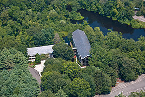 Bridgewater Associates -  Aerial view of the Bridgewater Associates corporate campus in Westport, Connecticut