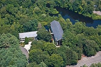 Bridgewater Associates -  Aerial view of the Bridgewater Associates corporate campus in Westport, Connecticut